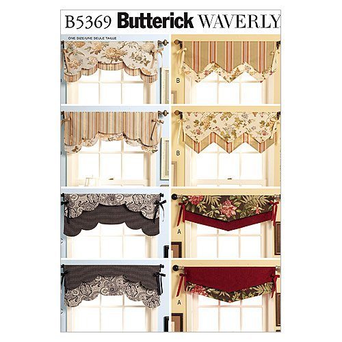 BUTTERICK PATTERNS B5369 Fast & Easy Reversible Valances, used for sale  Delivered anywhere in USA