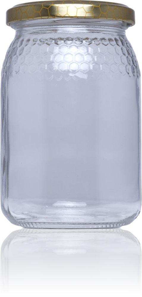 Tarro de cristal para Miel 380 ml (1/2 kg) - Medio pack 25 u. Tapas Rioja