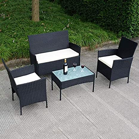 Amazon.com: Cypressshop - Juego de muebles de mimbre para ...
