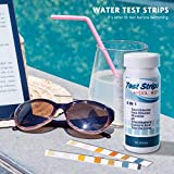 Yueeng Pool Test Strips, 6-in-1 Spa Test Strips for Hot Tubs, PH Total Chlorine, Free Chlorine/Bromine, Total Alkalinity, Cyanuric Acid, Total Hardness Water Chemistry Tester, 100 Count (2 Pack)