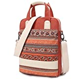 Dachee New Red Bohemian Laptop Shoulder Bag 13.3 Inch Laptop Briefcase Laptop Messenger Bag