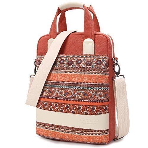 Dachee New Red Bohemian Laptop Shoulder Bag 13.3 Inch Laptop Briefcase Laptop Messenger Bag
