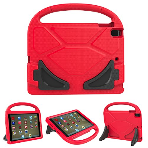(iPad 9.7 2018/2017 case, iPad Pro 9.7 Case, iPad Air 2 Case, Roasan Shockproof Stand Light Weight Handle Kids Cover iPad 9.7-inch 2017/2018 Latest Gen (iPad 5th / 6th Gen Tablet,Red))