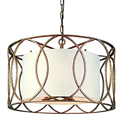 Troy Lighting Sausalito 5LT Pendant Dining in Deep Bronze & Silver Gold