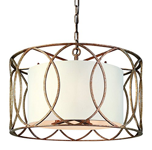 Troy Sausalito Five Light Drum Pendant