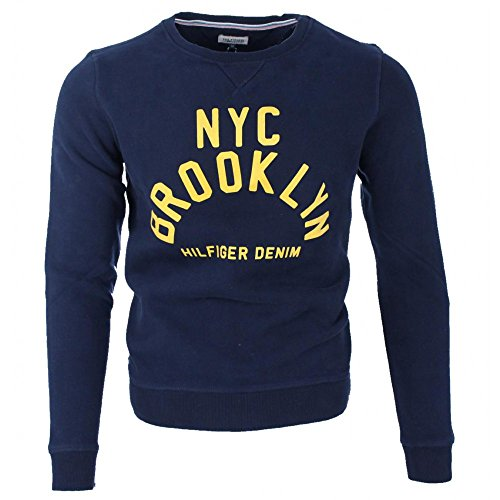 Tommy Hilfiger Herren Pullover - NYC Brooklyn - Navy / Marine - Vintage