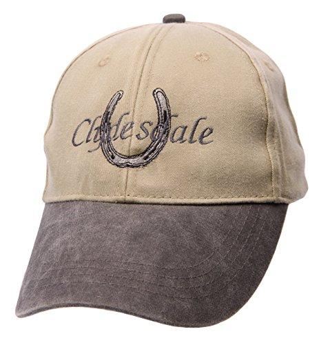 Otto Cap Big Black Horse Clydesdale & Horse Shoe Beige Cap