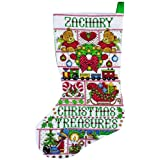 Tobin Christmas Treasures Stocking Counted Cross Stitch Kit, 17-Inch Long, 14 Count