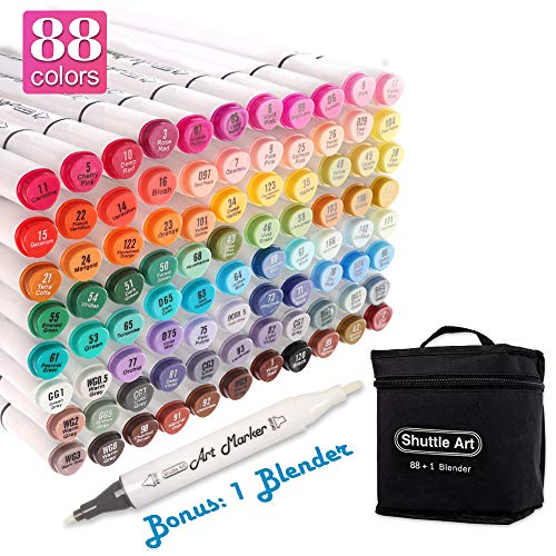 Shuttle Art 88 Colors Dual Tip Alcohol Based Art Markers