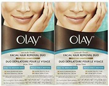 Olay Smooth Finish Facial Hair Removal Duo 1 Kit (2 Pack) by Olay ...