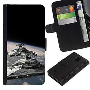 All Phone Most Case / Oferta Especial Cáscara Funda de cuero Monedero Cubierta de proteccion Caso / Wallet Case for Samsung Galaxy S5 Mini, SM-G800 // Star Destroyers