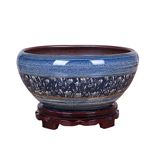 Peaceip Chinese Style Ceramic Flower Pot with Tray/Indoor for sale  Delivered anywhere in Canada