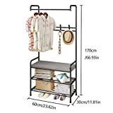 FKUO Entryway Hall Tree, Multifunction Coat Rack