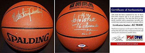 Nate Archibald and Jo Jo White Autographed Signed Basketball - Spalding Indoor/Outdoor Model Ball - Boston Celtics - Tiny Archibald - PSA/DNA Authentic