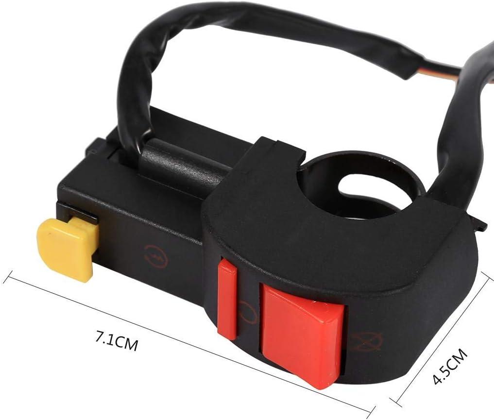 Interruptor de faro antiniebla para manillar interruptor de encendido y apagado de llama Aramox motor de moto