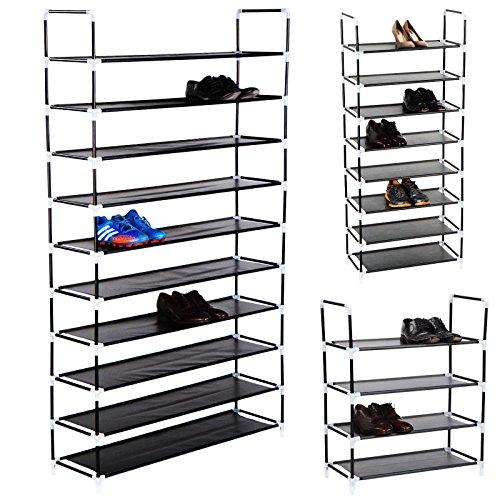 Erweiterbares Schuhregal, Schuhschrank je nach Wahl für bis zu 20, 40 oder 50 Paar Schuhe