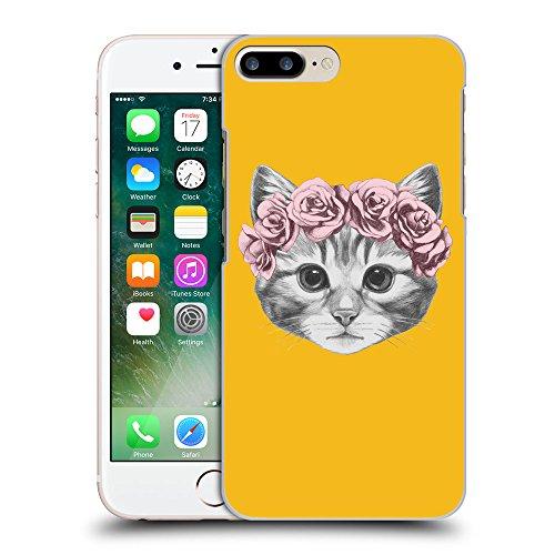 GoGoMobile Coque de Protection TPU Silicone Case pour // Q05020602 Fleur chat ambre // Apple iPhone 7 PLUS