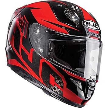 HJC Rpha 11 cara completa para Moto Casco – LOWIN carbono rojo