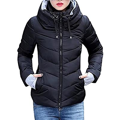 Lobinsun Women's Winter Parkas Short Jacket Slim Cotton Padded Coat