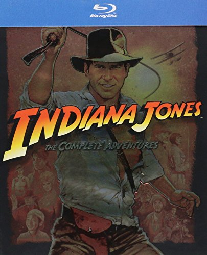 INDIANA JONES The Complete Adventures (All 4 Movies) Raiders of the Lost Ark - The Temple of Doom - The Last Crusade - The Kingdom of the Crystal Skull (Indiana Jones Crystal Temple)
