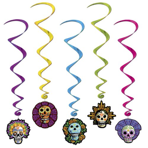 Day Of The Dead Whirls   (5/Pkg)]()