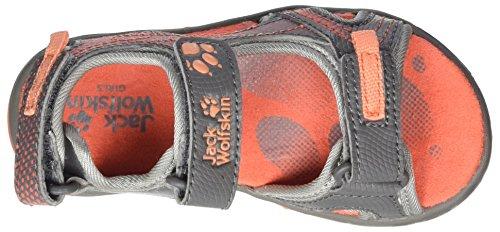 Jack Wolfskin Acora Sandal G, Sandalias Al Aire Libre para Niñas Gris (Hot Coral)