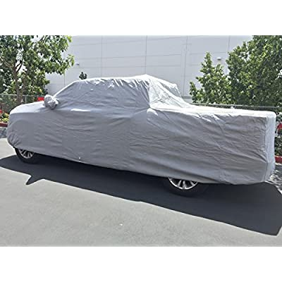 CarsCover 100% Rain Waterproof Custom Fit 2000-2020 Chevy Silverado 1500 Crew Cab 5.5ft Short Bed Box Truck Car Cover Heavy Duty All Weatherproof Ultrashield: Automotive