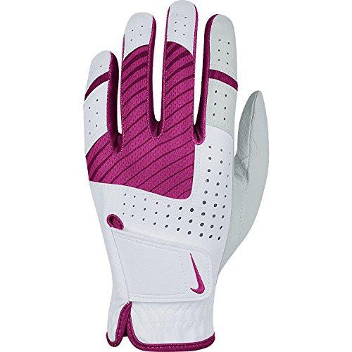 Nike Golf Women's Tech Xtreme V Regular Glove (Right), Medium/Large, White/Violet Shade/Vivid Pink