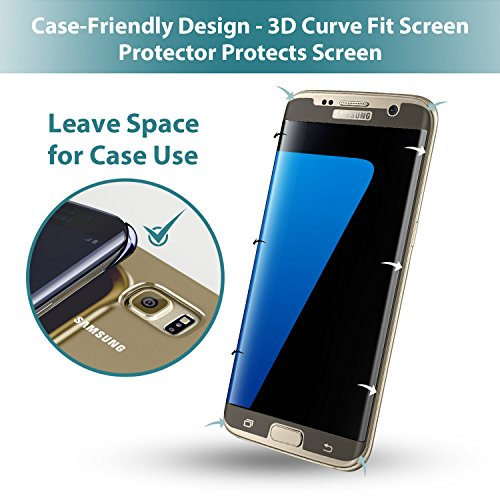 size 40 f7392 af48e S7 Edge Screen Protector, Klearlook [Case Friendly] Premium 3D ...