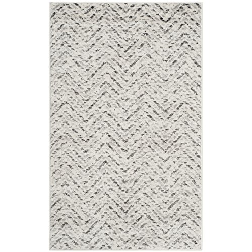 Cheap Safavieh Adirondack Collection ADR104N Ivory and Charcoal Modern Distressed Chevron Area Rug (2'6″ x 4′)