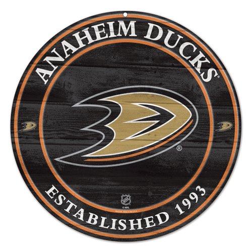 (Team Effort NHL Anaheim Ducks NHL Anaheim Ducks Wood Sign 19.75