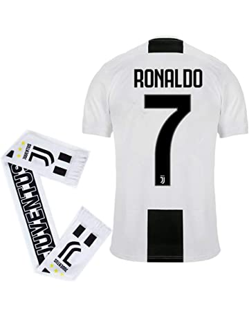 f2389d370b1  7 Ronaldo Juventus Home 2018-2019 Season Mens Soccer Jersey and Scarf  Color White