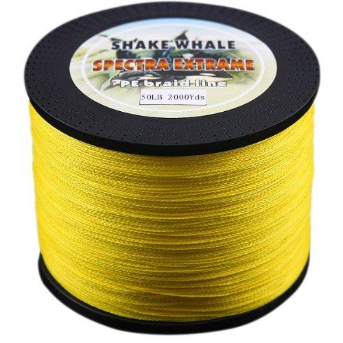 【超お買い得!】 Shake PE Whale 100-percent 100-percent PE Good品質Briad編組釣りラインイエロー50lb 2000ydsヤード Shake B00EPQW5TO, dodoBABY(ドドベビー):d8f1c254 --- a0267596.xsph.ru