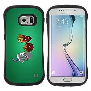 "Pulsar iFace Series Tpu silicona Carcasa Funda Case para Samsung Galaxy S6 EDGE / SM-G925(NOT FOR S6!!!) , Patatas fritas comida chatarra dieta saludable estilo de vida"""