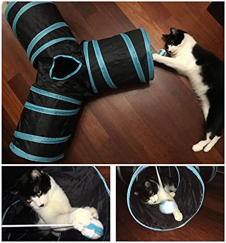 CO-Z Collapsible Cat Tunnel Tube Kitty Tunnel Bored Cat Pet Toys Peek Hole Toy Ball Cat, Puppy, Kitty, Kitten, Rabbit 7