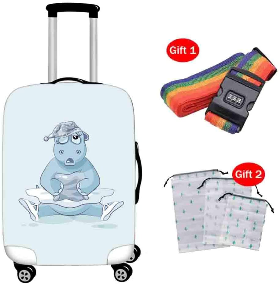 Suitcase Cover Oxford Cloth Breathable Shockproof Pull Bar Case Cover 18-32 Inch Elastic Zipper Closed Trunk Protection Cover