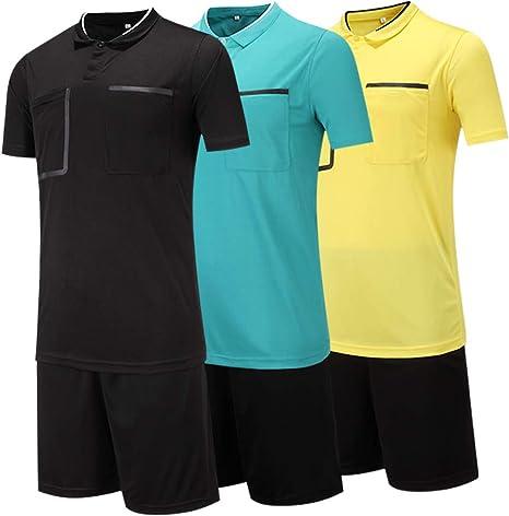 Camiseta de /árbitro de manga corta para hombre tama/ño medium Hombre color rojo Shinestone Informal