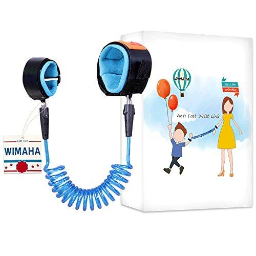 Wimaha Children Anti Lost Wristband, Skin Friendly Anti Pricking Cotton Wrist Strap (1.5m, Blue)