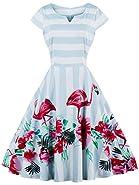 FAIRY COUPLE Vintage Rockabilly Cap Sleeves Prom Dress DRT019