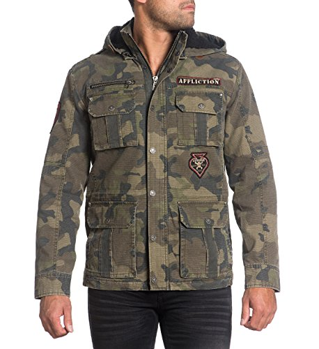 Affliction Rusty Break Utility Jacket - Camo - (Camo Utility Jacket)