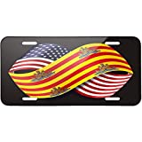 Friendship Flags USA and Ibiza region Spain Metal License Plate 6X12 Inch