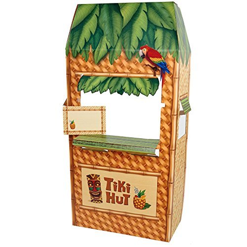The Party Hut Costumes (Jungle Party Tiki Hut Cardboard Cutout Standee - 5.5' Tall)