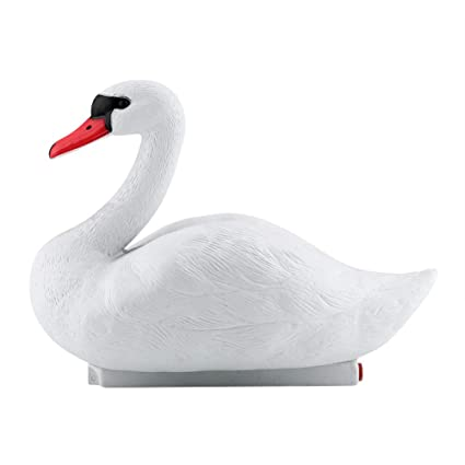 Garden Decorations Simulated Cute Exquisite White Swan Decorative Tool Hunting Baits For Garden Home Decoration Garden Statues & Sculptures Garden Supplies