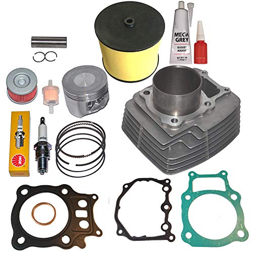 CYLINDER PISTON RINGS GASKET AIR FILTER KIT SET FITS HONDA RANCHER TRX350 TRX 350 2000-2006 (Foreman 450 Piston Kit)