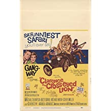"""The Clarence Cross-Eyed Lion 1965 Authentic 14"""" x 22"""" Original Movie Poster Richard Haydn Comedy U.S. Window Card"""