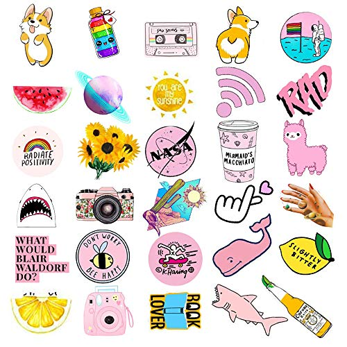 VSCO Stickers for Water Bottles 103 Pack, Laptop,Hydro Flask,Phone,Car,Skateboard Trendy Stickers for Teens, Girls, Cute, Waterproof, Aesthetic