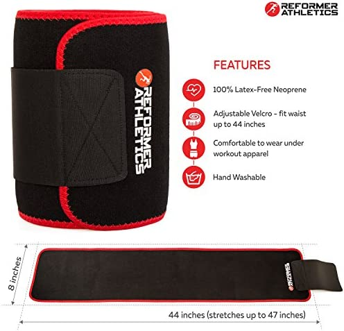 Waist Trimmer Belt for Women & Men, Waist Trainer, Ab Belt for Weight Loss, Slim Body Sweat Wrap for Low Back and Lumbar Support with Sauna Suit Effect, Abdominal Trainer with Smartphone Sleeve 10