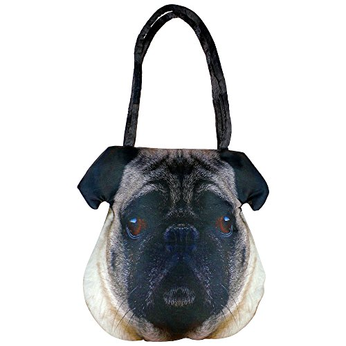 Digital Dog Graphic Indian Face borsa - Poliestere Dupion Faux Seta - stampa all-over - 12 x 12 x 24 pollici