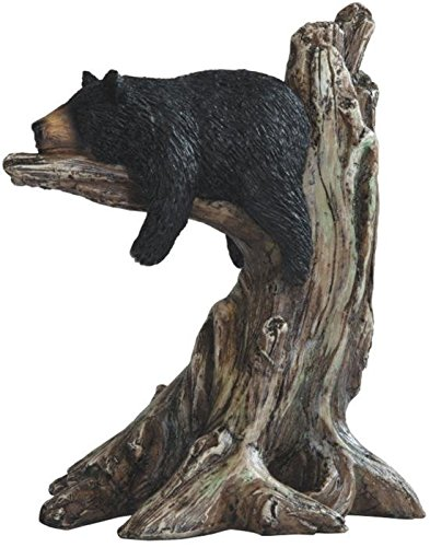 - StealStreet SS-G-54292 Black Bear Sleeping on Tree Branch Figurine, 9