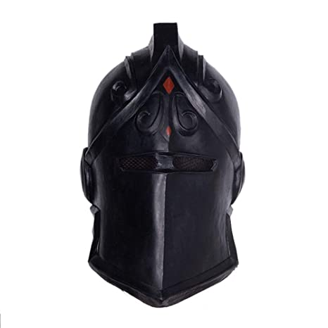 LZX Fortnite Mask Black Knight Mask Halloween Scary Mask Dress Up Prom Mask